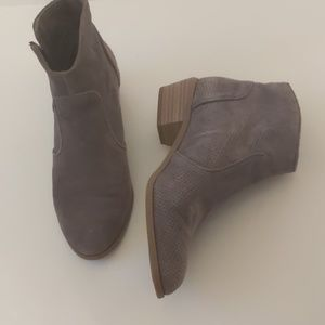 INC InternationalConcepts gray suede booties-sz 7M